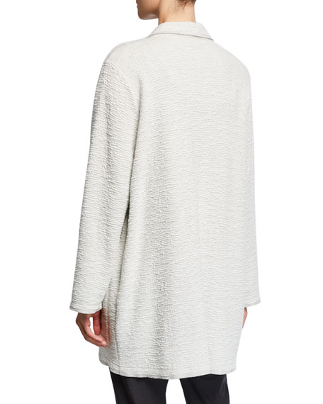 Eileen Fisher Plus Size Textured Boxy Jacket
