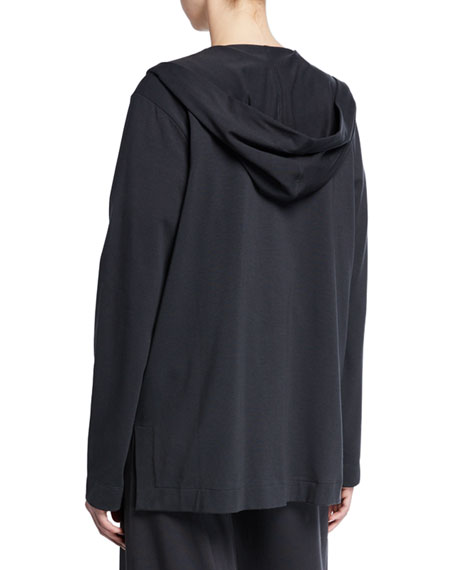 Eileen Fisher Plus Size Stretch Jersey Hooded Jacket