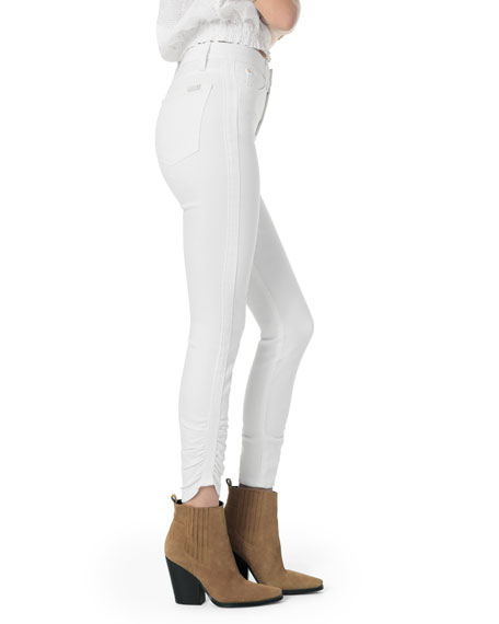 Joe's Jeans The Charlie Ankle High-Rise Jeans w/ Gathered Hem