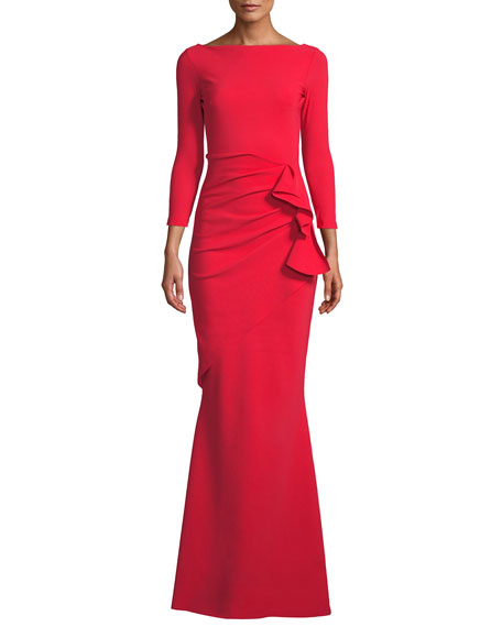 Chiara Boni La Petite Robe Zelma Side-Draped Mermaid Gown