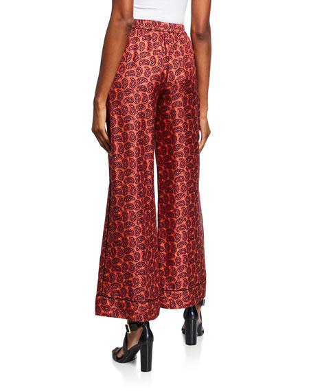 Kobi Halperin Eliza Printed Wide-Leg Pull-On Pants