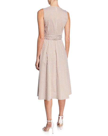 Kobi Halperin Dina Striped Sleeveless Midi Dress