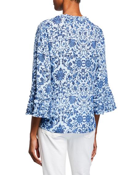 Kobi Halperin Candice Patterned Silk Blouse