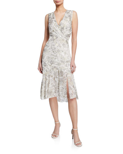 4622aa6a Brittney Floral-Print V-Neck Sleeveless Cocktail Dress