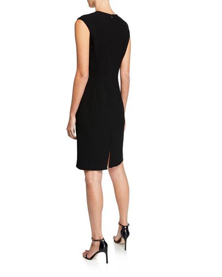 Elie Tahari Lottie Colorblock Sleeveless Crepe Dress