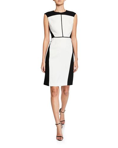 f11cf4c1 Lottie Colorblock Sleeveless Crepe Dress