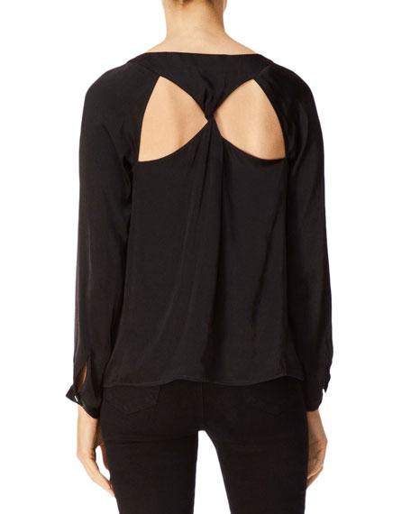 J Brand Emilia Long-Sleeve Twist-Back Top