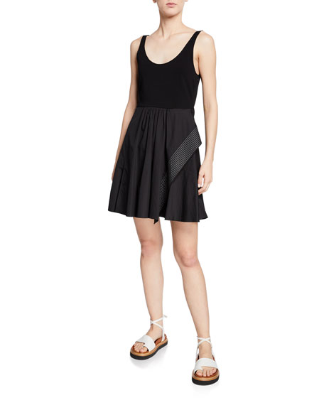 3.1 Phillip Lim Poplin Sleeveless Dress with Boxy Crop Top