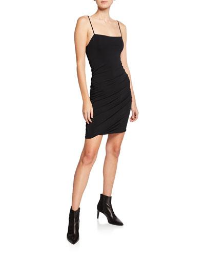Twisted Cami Spaghetti-Strap Crepe Jersey Dress