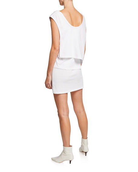 alexanderwang.t High Twist Scoop-Neck Layered Muscle Mini Dress