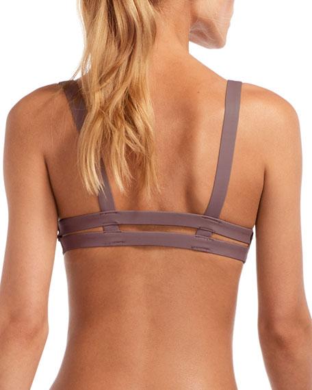Vitamin A Neutra Double-Banded Bikini Top, Galet
