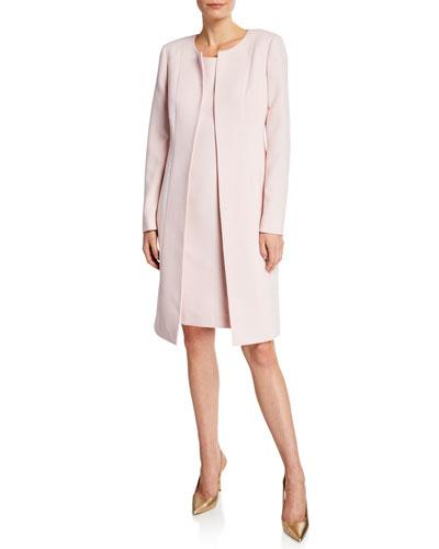 Two-Piece Topper Coat & Sheath Dress Set