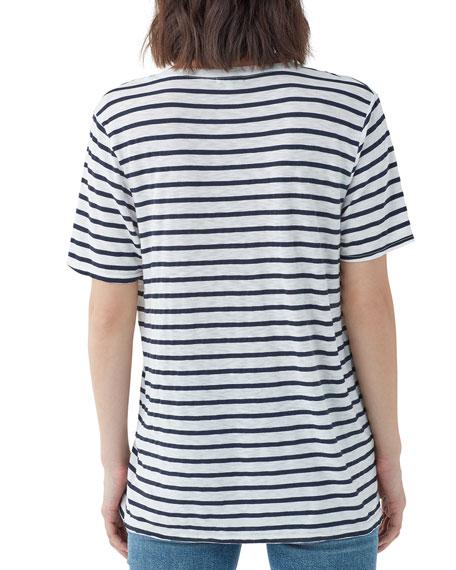 Splendid Everly Striped Short-Sleeve V-Neck Tee