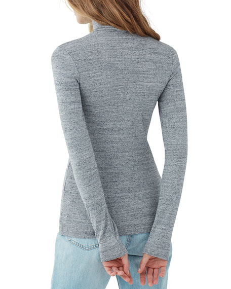 Splendid Classic 1x1 Slim Turtleneck Sweater