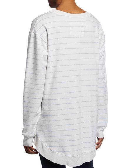 Frank & Eileen Tee Lab Graceful Striped Long-Sleeve Lightweight Sweatshirt
