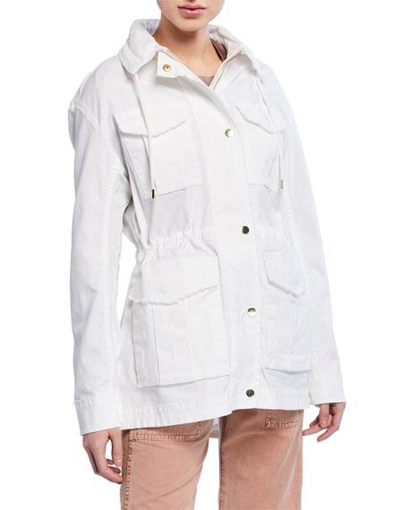 ATM Anthony Thomas Melillo Frayed Zip-Front Field Jacket w/ Stowaway Hood