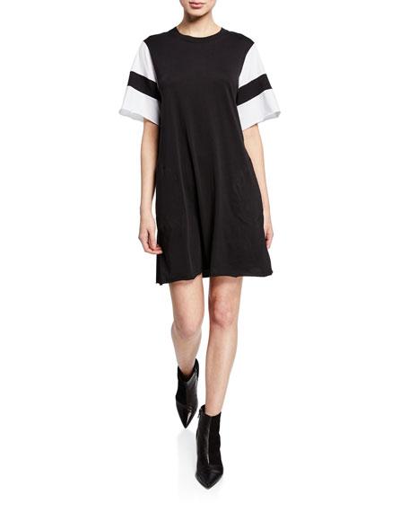 ATM Anthony Thomas Melillo Crewneck Short-Sleeve Jersey Cotton Dress