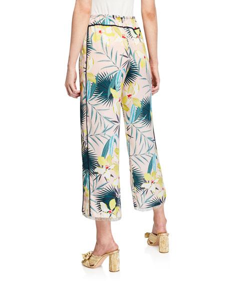 Le Superbe Destination Unknown Floral Wide-Leg Cropped Pants