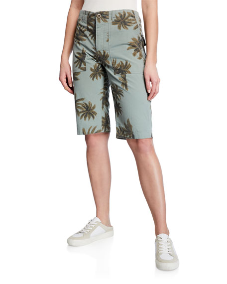 Le Superbe The Palms Printed Cotton Shorts