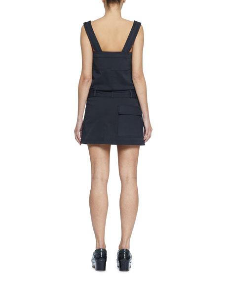 Proenza Schouler PSWL Belted Sleeveless Twill Utility Short Dress
