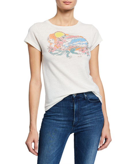 RE/DONE Psychedelic Surf Slim Tee