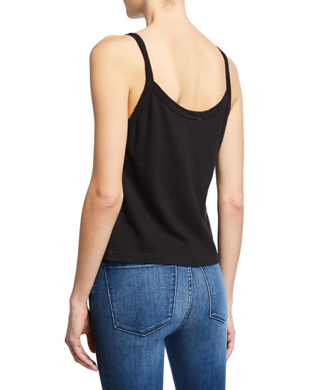 RE/DONE Scoop-Neck Jersey Cotton Tank Top
