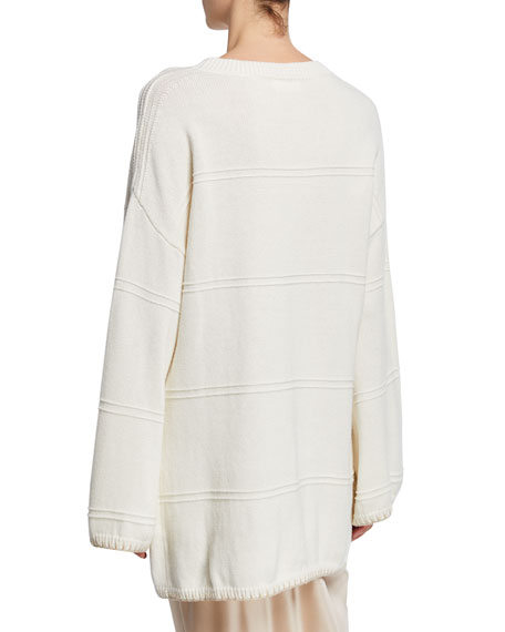 Sablyn Eve Crewneck Long-Sleeve Sweater Dress