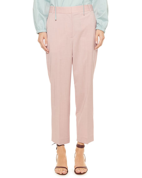 Tibi Cross Dye Wool Taylor Mid-Rise Pants