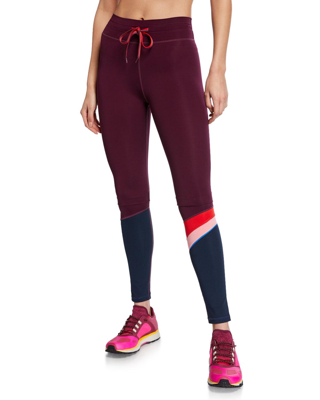 f861e8e5ccc08 The Upside Marron Retro Drawstring Yoga Pants | Neiman Marcus