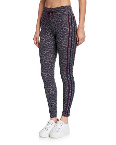 Snow Leopard Printed Yoga Pants