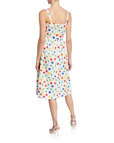 HVN Laura Rainbow Cherry Cotton Dress