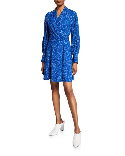 Fanetta Dotted Long-Sleeve Dress