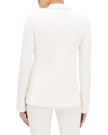Lafayette 148 New York Vangie Button-Front Denim Jacket