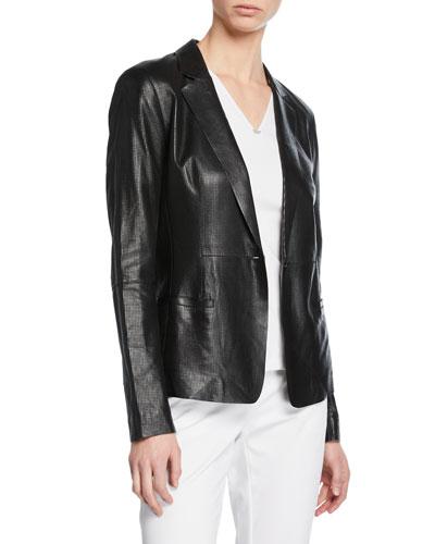 Nikala Napa Lambskin Perforated Leather Jacket