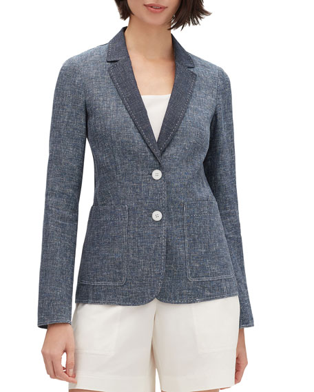 Lafayette 148 New York Vangie Sublime Space-Dye Two-Button Jacket
