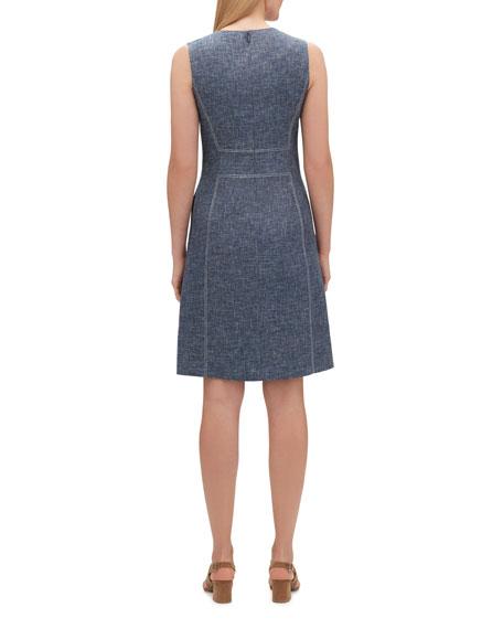 Lafayette 148 New York Brett Sublime Space-Dye Sleeveless Dress