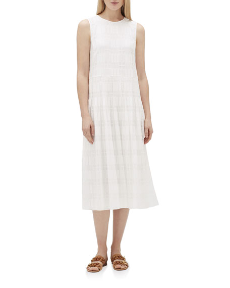 Lafayette 148 New York Avalynn Sleeveless Translucent Grid Lace Dress