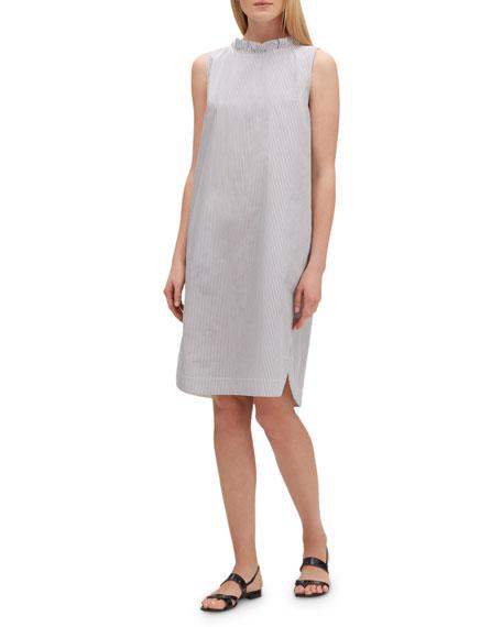 Lafayette 148 New York Mela Languid-Stripe Sleeveless Shift Dress