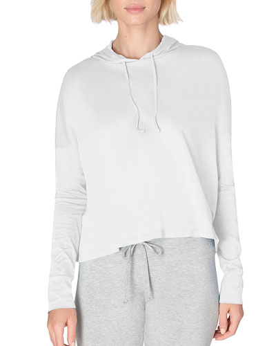 Time Out Slashed Long-Sleeve Cropped Pullover