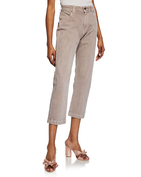 The Great The Rambler Corduroy Cropped Straight Leg Pants