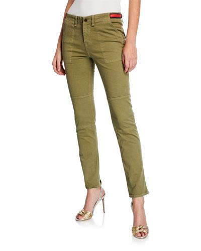 Adrina Ankle Skinny Jeans w/ Waist Tabs