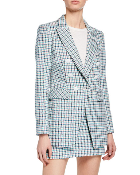 Veronica Beard Moroso Houndstooth Check Dickey Jacket