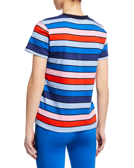 Tory Sport Striped Short-Sleeve Active Tee