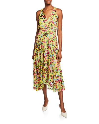 Rita Short-D Floral Midi Dress