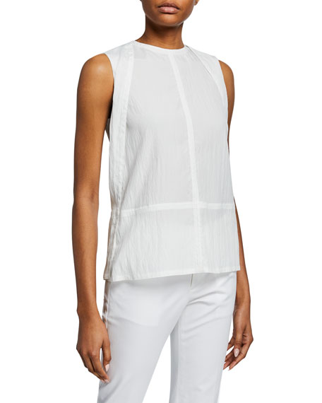 Helmut Lang Open-Back Tie Parachute Top