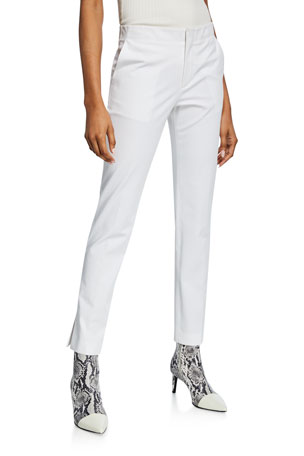 Helmut Lang Slim Cotton Ankle Pants