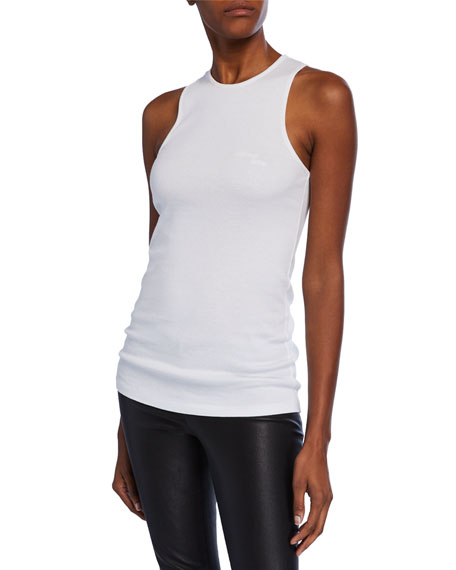 Helmut Lang Stacked High-Neck Cotton Tank