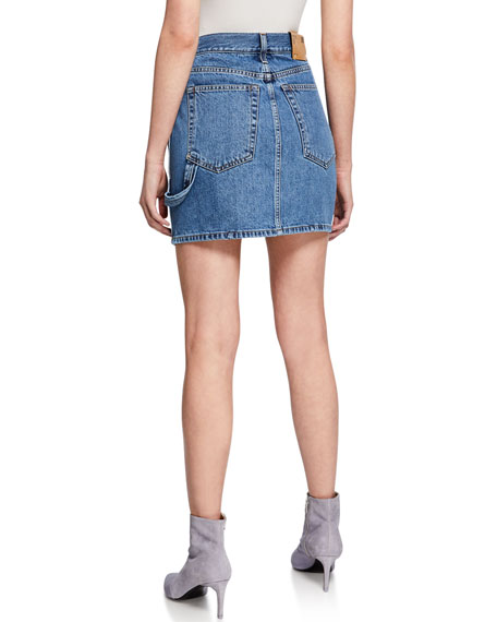 Image 2 of 3: Helmut Lang Femme Utility Denim Mini Skirt