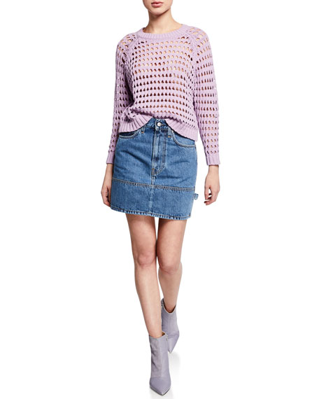 Image 3 of 3: Helmut Lang Femme Utility Denim Mini Skirt