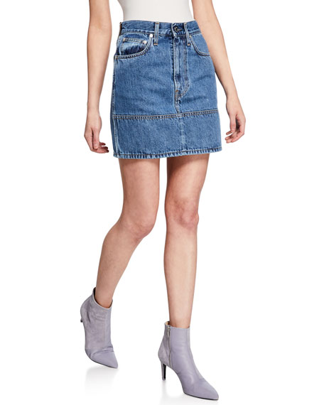 Image 1 of 3: Helmut Lang Femme Utility Denim Mini Skirt